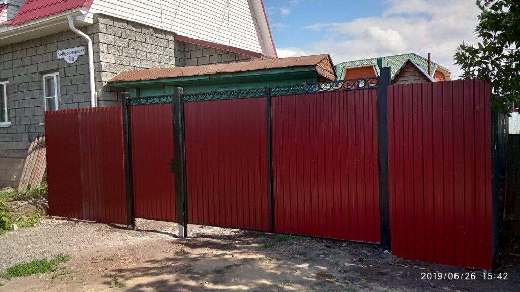 Ворота металлические оригинальные в Карталах и Карталинском районе. В рассрочку на 11 мес.
