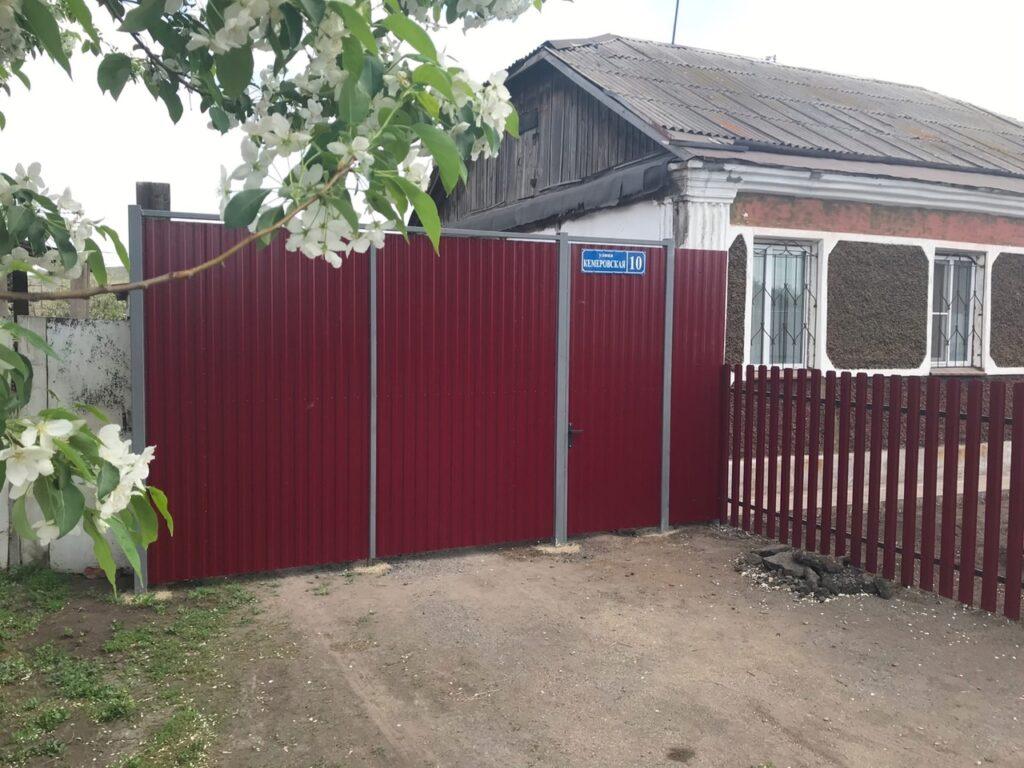 Металлические ворота во двор в Аскарово. Рассрочка на год.